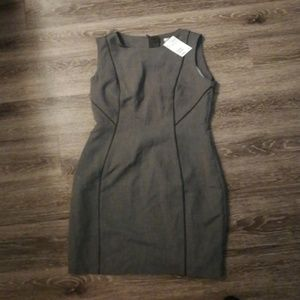A line gray dress